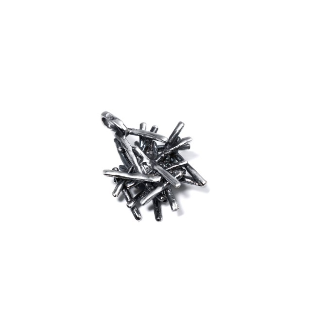 Екстравагантен сребърен медальон МОРСКИ ТАРАЛЕЖ