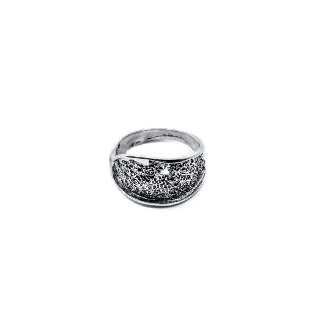 Нестандартен сребърен пръстен ЛАВА